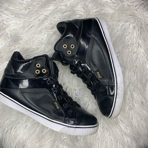 Pastry Black High Top w/ Gold Accents Sneakers